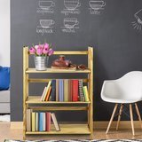 Casual Home 3-Shelf Folding Stackable Bookcase in Natural