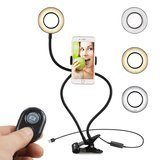KEKH Selfie Ring Light with Phone Holder & Bluetooth Remote