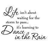 VWAQ Life Isn't About Waiting for the Storm To Pass...Inspirational quotes
