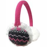 N'Ice Caps Girls' Currier and Ives Winter Print Adjustable Pile Ear Muff